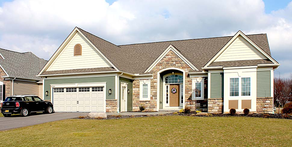 Ranch Traditional House Plan 54066 Elevation
