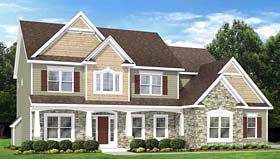 Traditional House Plan 54067 Elevation