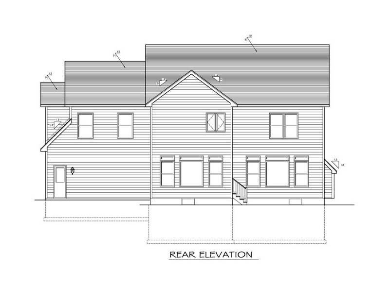 Traditional House Plan 54067 Rear Elevation