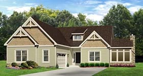 Ranch House Plan 54069 Elevation