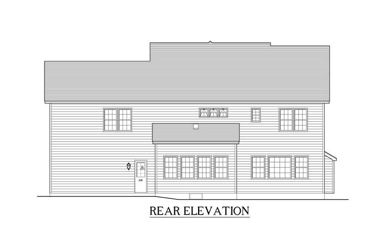 Traditional House Plan 54073 Rear Elevation
