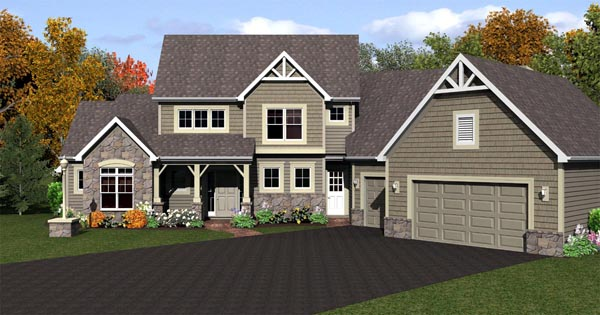 Cape Cod House Plan 54081 with 3 Beds, 3 Baths, 3 Car Garage Elevation