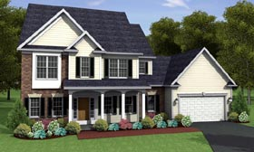 Traditional House Plan 54082 Elevation