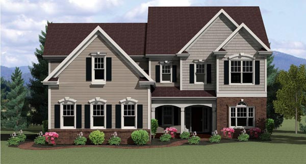 Traditional House Plan 54083 Elevation