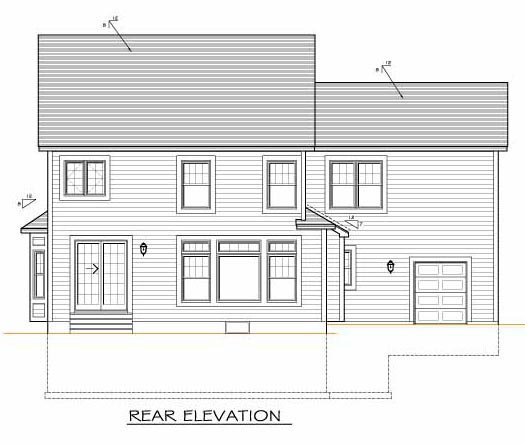 Traditional House Plan 54083 Rear Elevation