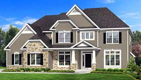 Traditional House Plan 54084 Elevation