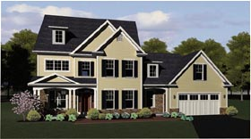 Traditional House Plan 54085 Elevation