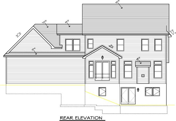 Traditional House Plan 54085 Rear Elevation
