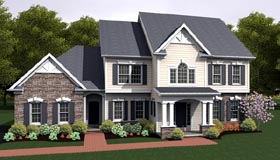 House Plan 54086 | Traditional Style Plan with 2860 Sq Ft, 4 Bedrooms, 3 Bathrooms, 2 Car Garage Elevation