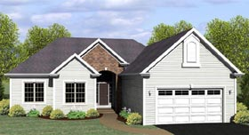 Ranch House Plan 54091 Elevation
