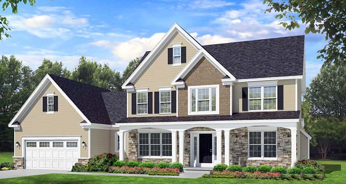 Traditional House Plan 54093 Elevation