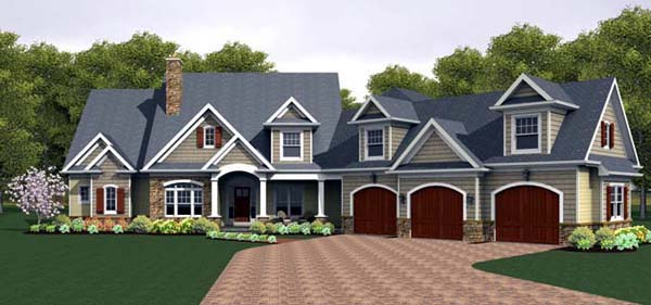 House Plan 54094 Elevation