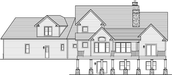 House Plan 54094 Rear Elevation