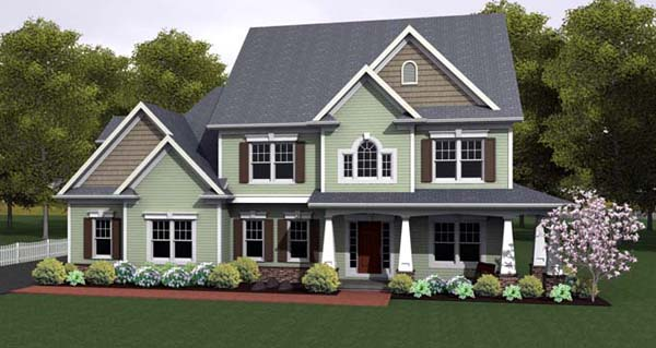 House Plan 54101 with 3 Beds , 3 Baths , 3 Car Garage Elevation