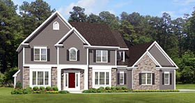 Traditional House Plan 54105 Elevation