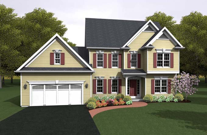 Traditional House Plan 54113 Elevation