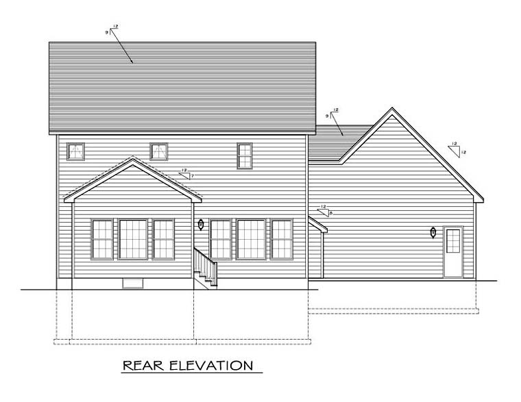 Traditional House Plan 54113 Rear Elevation