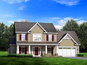 Traditional House Plan 54114 with 3 Beds, 3 Baths, 2 Car Garage Elevation