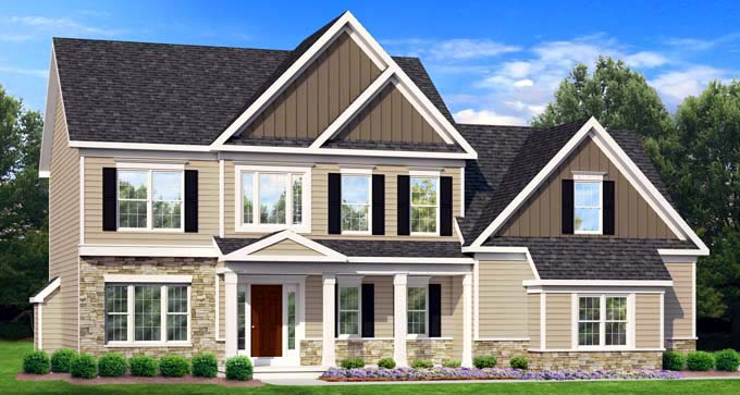 Traditional House Plan 54115 Elevation