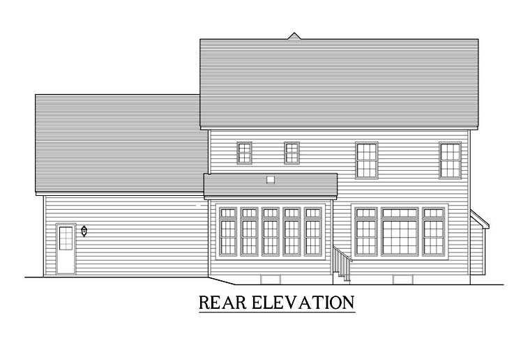 Traditional House Plan 54115 Rear Elevation