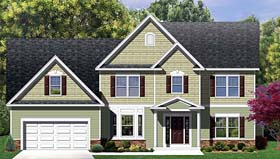 Traditional House Plan 54118 Elevation