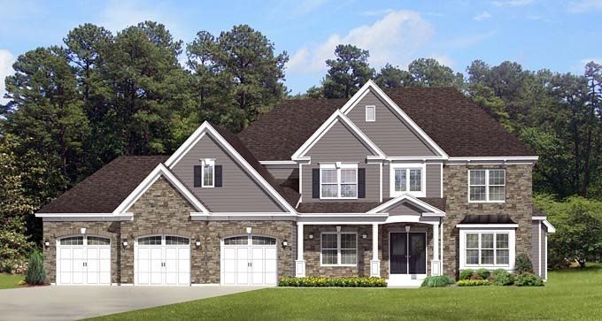 Traditional House Plan 54121 Elevation