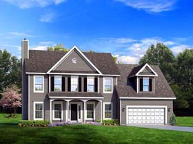 Traditional House Plan 54122 Elevation