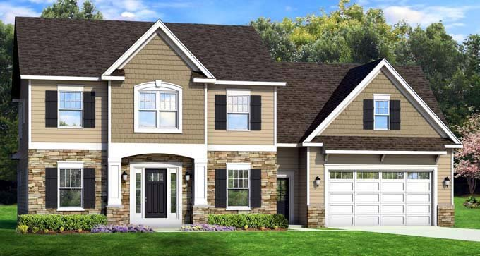 Traditional House Plan 54123 Elevation