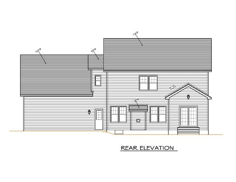 Traditional House Plan 54124 Rear Elevation