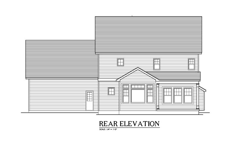 Traditional House Plan 54127 Rear Elevation