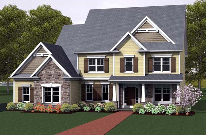 Traditional House Plan 54131 Elevation
