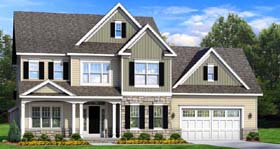 Traditional House Plan 54132 with 4 Beds, 3 Baths, 2 Car Garage Elevation