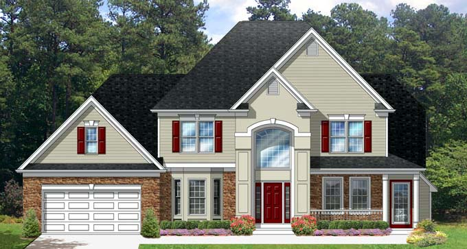 Traditional House Plan 54133 Elevation