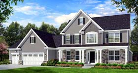 Traditional House Plan 54134 Elevation