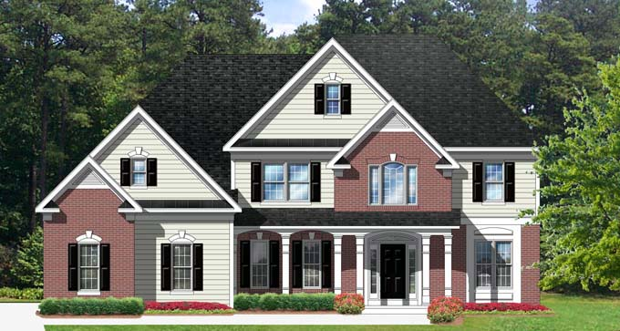 Traditional House Plan 54136 Elevation