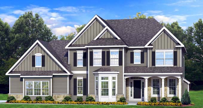Traditional House Plan 54137 Elevation