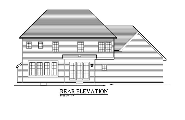 Traditional House Plan 54138 Rear Elevation