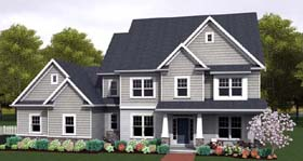 Traditional House Plan 54139 Elevation