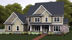 Traditional House Plan 54141 Elevation