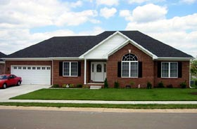 House Plan 54411 | Traditional Style Plan with 1600 Sq Ft, 3 Bedrooms, 2 Bathrooms, 2 Car Garage Elevation