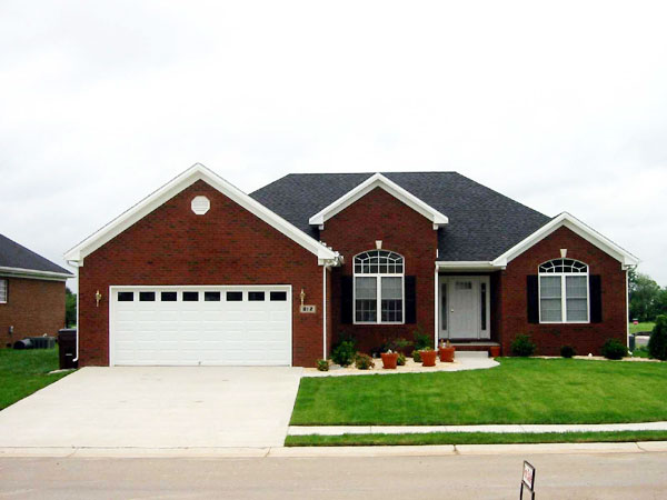 European House Plan 54428 with 3 Beds, 2 Baths, 2 Car Garage Elevation