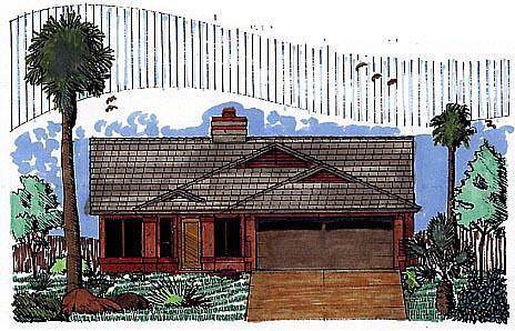 Southwest House Plan 54605 Elevation