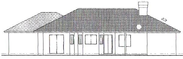 Southwest House Plan 54609 Rear Elevation