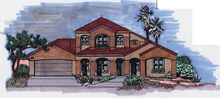 Mediterranean House Plan 54610 Elevation