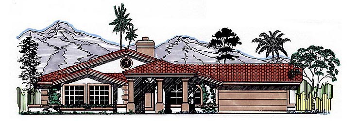 Southwest House Plan 54613 Elevation