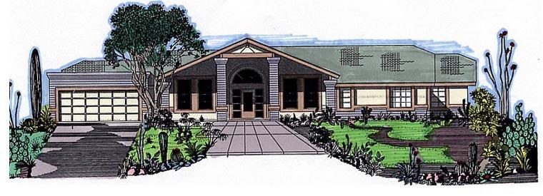 Southwest House Plan 54620 Elevation