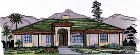 Florida House Plan 54621 Elevation