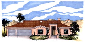 Southwest House Plan 54623 Elevation