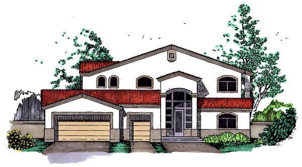 Southwest House Plan 54625 Elevation