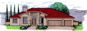 Southwest House Plan 54631 Elevation